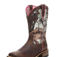 Ariat Women's Unbridled Boots, Powder Brown and Mossy Oak Camo - 10012828
