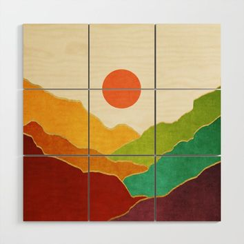 Minimal Landscape 11 Wood Wall Art by marcogonzalez