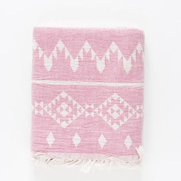 Turkish-T - Kilim Beach Towel | Pink