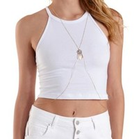 Gold Draped Dreamcatcher Body Chain by Charlotte Russe