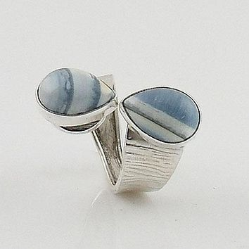 Owyhee Opal Adjustable Sterling Silver Ring