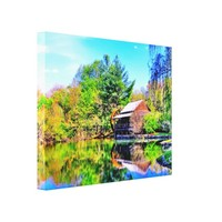Rustic Country Mill Canvas Print