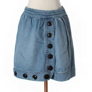 Plenty by Tracy Reese Denim Button Skirt - SALE!!!