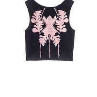 Cynthia Rowley - Embroidered Bonded Shell | Cynthia Rowley Tops