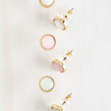 ModCloth Pastel Pastel Perfection Earring Set