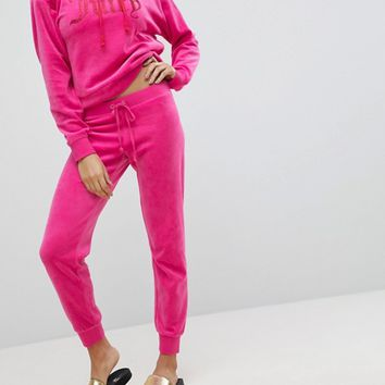 Juicy Couture Black Label Velour Trackpant at asos.com