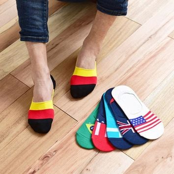 3Pair Mens Novelty Socks Short Classic Male Invisible Sock Slippers Shallow Mouth Non Slip Design Boat Sock Calcetines Hombre