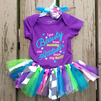 Baby Tutu Outfit - Scrappy Tulle Tutu - Aunt Gift - First Birthday Tutu