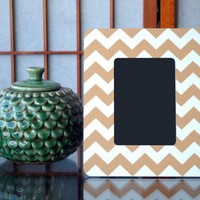Gold Chevron Custom Wood Picture Frame