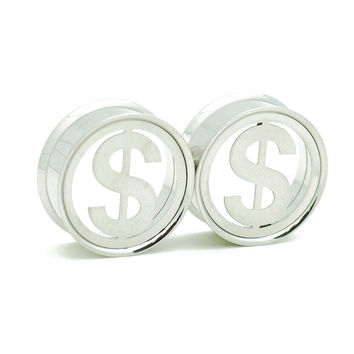 Cash Sign Steel Screw Fit Tunnels Plugs (16mm-25mm)