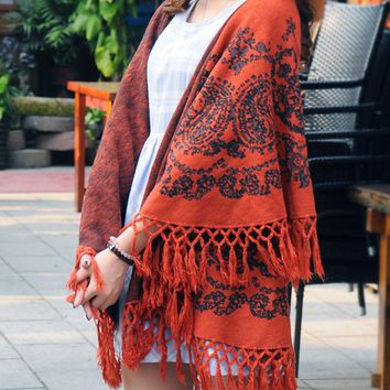 Fashion Women's Tassel Bohemian Cashmere Winter Warm Scarf Shawl