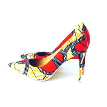 AGUA African Pointy Toe Pumps
