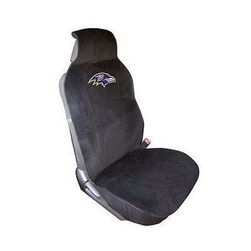 Licensed Official New NFL Baltimore Ravens Car Truck Front Sideless Seat Cover Airbag Ready