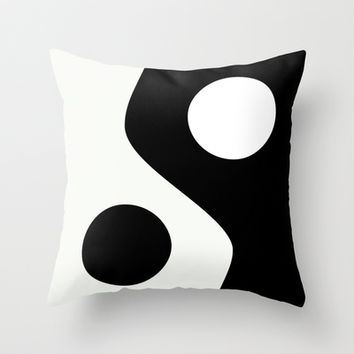 Yin Yang 2 Throw Pillow by Digital-Art