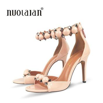 NEW ARRIVE women pumps ankle strap high heel pumps shoes for women sexy peep toe high heels sandals party wedding shoes woman