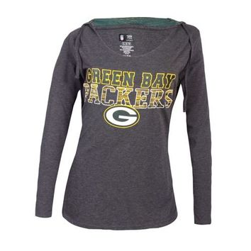 Green Bay Packers Showpiece Ladies Knit Hooded Top