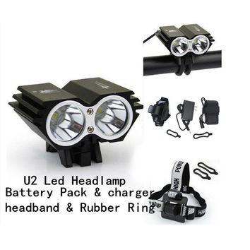 Hight Quality CREE XM-U2 2x LED 5000 Lumens Aluminum Owl Dual-use Bicycle Light bike HeadLight Lamp Black