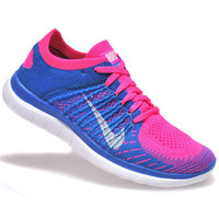 NIKE Women Men Running Sport Casual Shoes Sneakers Pink-blue