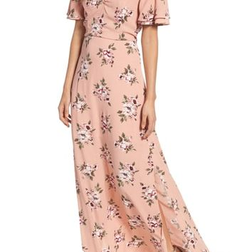 Row A Off the Shoulder Maxi Dress | Nordstrom