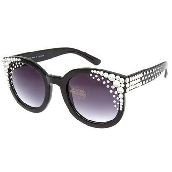 Nia Swarovski Crystal Embellished Black Sunglasses