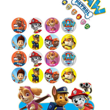 Paw Patrol Image, Paw Patrol Inspired Digital Paper Pack - 30 Papers - Size 12x12 - Printable Paper- Digital Scrapbooking - CLIPART INCLUDED