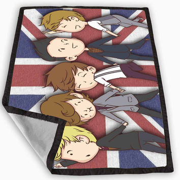 One Direction Cartoon Version Blanket for Kids Blanket, Fleece Blanket Cute and Awesome Blanket for your bedding, Blanket fleece *