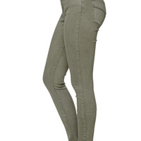 Bullhead Denim Co. High Rise Skinniest Olive Jeans at PacSun.com