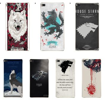 Games Of Thrones House Stark White Wolf Soft Design For Huawei G7 G8 Honor 5A 5C 5X 6 6X 7 8 V8 Mate 8 9 P7 P8 P9 P10 Lite Plus