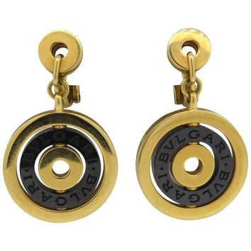 Bulgari Astrale Black Ceramic Gold Drop Earrings