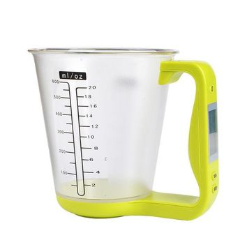 LMF9GW New Green Kitchendigital Measuring Cup Scale Cooking Tools All In One Electronic Lcd Display Multifunction  Measuring Cup