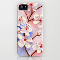 Cherry Blossoms–Watercolor iPhone & iPod Case by Brett Winn