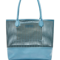 Rhea Perforated Leather Tote