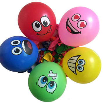 10pcs 12 inches Globos Smile Latex Balloons Inflatable classic Toys Air Ballons Wedding Decoration happy Birthday Party Supplies