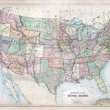 General Map of the United States (1867)