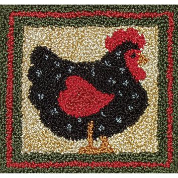 "Black Hen Rachel's of Greenfield Punch Needle Kit 3.375""X3.375"""