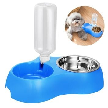 Dual Detachable Dog Bowl Stainless Steel