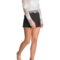 Maeva Lace Cropped Blouse-FINAL SALE