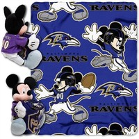 Disney Baltimore Ravens Pillow and Throw Set