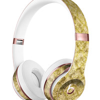 Micro Grungy Mustard Pattern Full-Body Skin Kit for the Beats by Dre Solo 3 Wireless Headphones
