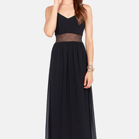 Underneath It All Cutout Black Maxi Dress