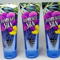 3 PACK Bath & Body Works HONOLULU SUN Ultra Shea Body Cream 8 oz