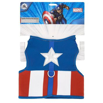 Disney Tails Dog Harness Marvel Captain America Size Medium New with Card