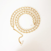 Vintage Faux Pearl and Gold Chain Belt
