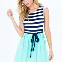 Striped Brights A-Line Dress