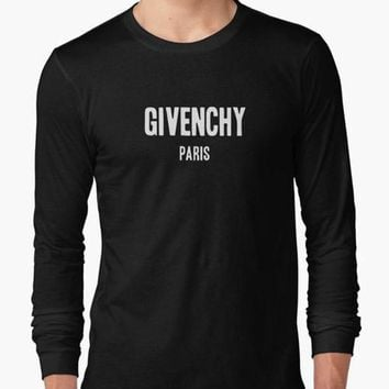 Givenchy Paris BLACK FULL SLEEVES T-SHIRT