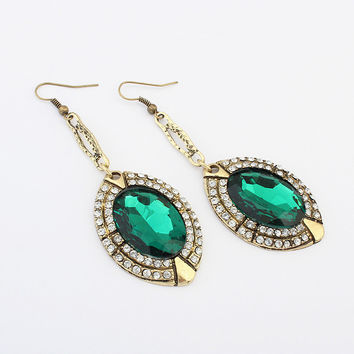 Stylish Gemstone Earrings [4918875588]
