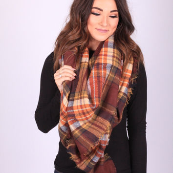 Cinnamon Spiced Blanket Scarf