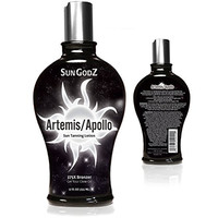 Apollo/Artemis Tanning Lotion 375X Bronzer (Tattoo-Safe) - Anti-Fade Technology for a Quicker & Longer Lasting Tan - With Argan & Coconut Oil, Agave & Max Silicone Hydration - Indoor/Outdoor - Unisex
