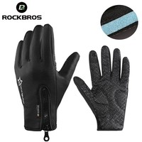 ROCKBROS Winter Snowboard Anti-slip Ski Gloves Thermal Waterproof Sreen Skiing Glove Motorcycle Bike Hiking Climbing Men Women