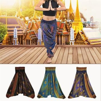 Baggy Boho Harem Pants For Unisex